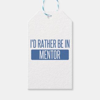 Eu preferencialmente estaria no mentor etiqueta para presente