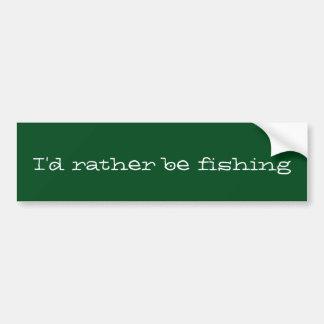 Eu preferencialmente estaria pescando adesivo de para-choque