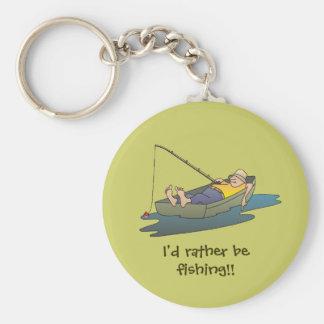 Eu preferencialmente estaria pescando - dia pregui chaveiro
