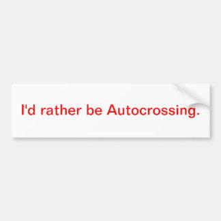 Eu preferencialmente seria Autocrossing. Adesivos