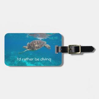 Eu preferencialmente seria Tag de mergulho da Etiqueta De Mala