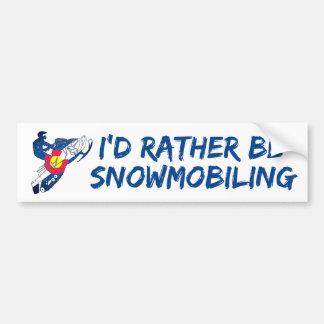Eu preferencialmente snowmobiling o bumpersticker adesivo de para-choque