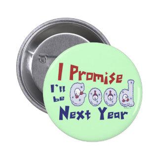 Eu prometo o botão bóton redondo 5.08cm