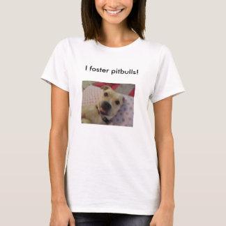 eu promovo pitbulls camiseta