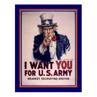 Eu quero-o para o exército de E.U. Cartão Postal