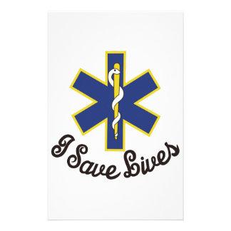 Eu salvar vidas papelaria