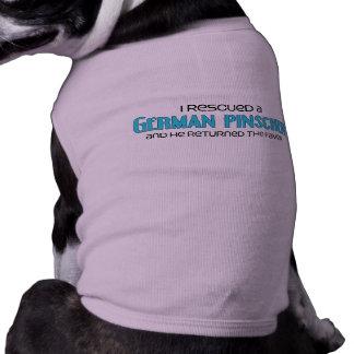 Eu salvei um Pinscher alemão (o cão masculino) Camiseta Para Caes