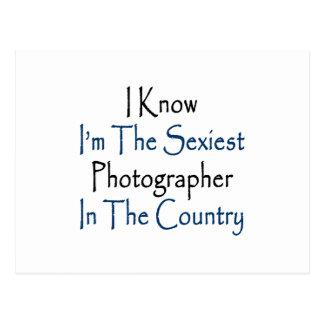Eu sei que eu sou o fotógrafo o mais sexy no paí cartoes postais
