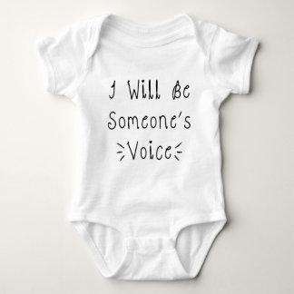 Eu serei alguém voz t-shirt