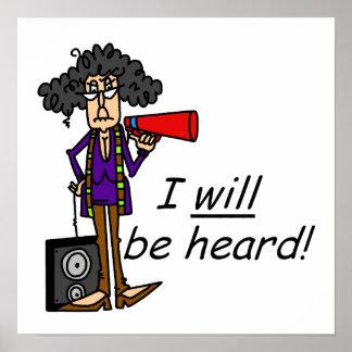 EU serei ouvido Posteres