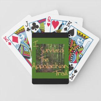 Eu sobrevivi ao amarelo apalaches da fuga baralhos de pôquer