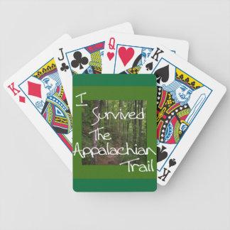 Eu sobrevivi ao branco apalaches da fuga baralho para poker