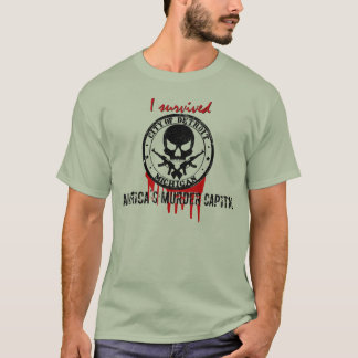 Eu sobrevivi ao capital do assassinato de Detroit Tshirt