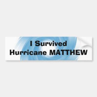 Eu sobrevivi ao furacão MATTHEW Adesivo Para Carro