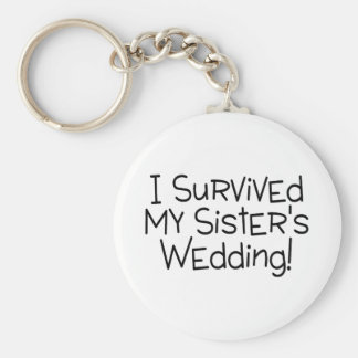 Eu sobrevivi ao preto do casamento da minha irmã chaveiros