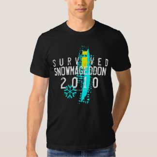Eu sobrevivi ao t-shirt preto 2 de Snowmageddon