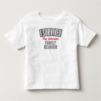 Eu sobrevivi - reunião de família - personalizo-a camiseta