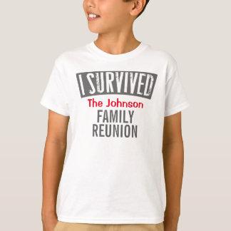 Eu sobrevivi - reunião de família - personalizo-a camisetas