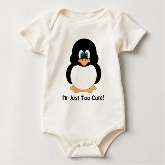 Eu sou apenas pinguim demasiado bonito body para bebê