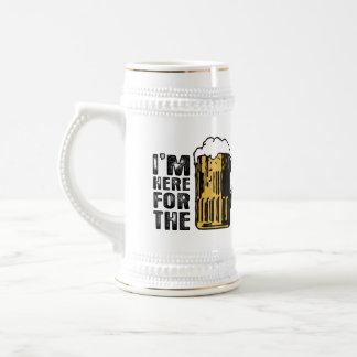 Eu sou aqui para a caneca de cerveja