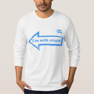 Eu sou com estúpido tshirt