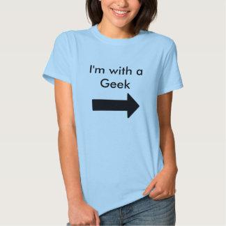 Eu sou com um geek t-shirt