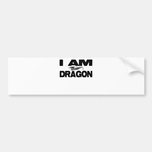 Eu sou dragão adesivo