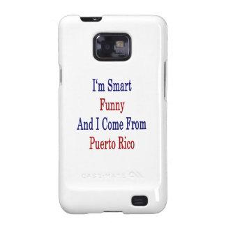 Eu sou engraçado esperto e eu venho de Puerto Rico Capa Para Samsung Galaxy S2