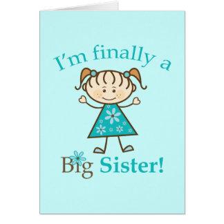 Eu sou finalmente uma figura menina da vara da cartão comemorativo