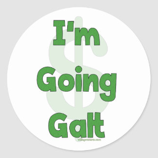 Eu sou Galt indo Adesivo