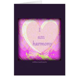 Eu sou harmonia cartão comemorativo