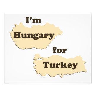 Eu sou Hungria para Turquia (com fome para a acção Flyer 11.43 X 14.22cm