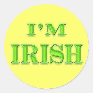 Eu sou irlandês adesivos em formato redondos
