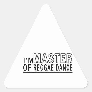 Eu sou mestre da dança da reggae adesivo triângulo
