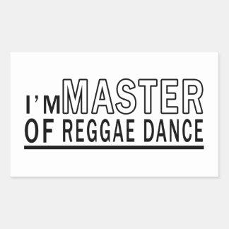 Eu sou mestre da dança da reggae adesivo retângular