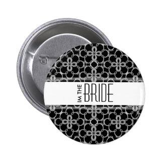 Eu sou o botão do casamento da noiva bóton redondo 5.08cm
