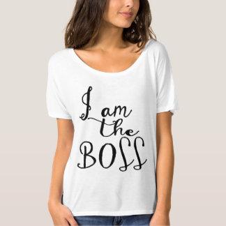 Eu sou o chefe camisetas