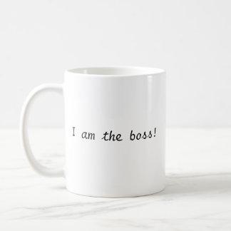 Eu sou o chefe! caneca de café