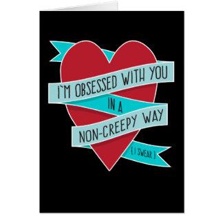 Eu sou obcecado com você… Cartão engraçado moderno