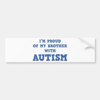 Eu sou orgulhoso de meu irmão com autismo adesivo para carro