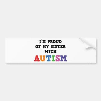 Eu sou orgulhoso de minha irmã com autismo adesivo para carro