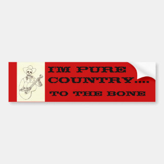Eu sou país puro ao autocolante no vidro traseiro  adesivo para carro