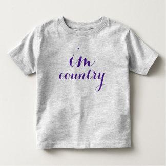 eu sou roxo da criança do tshirt do país