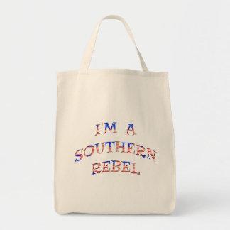 Eu sou sacolas rebelde do sul bolsa tote