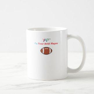 Eu sou seu jogador ávido do futebol caneca de café