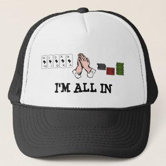 Eu sou todo Pray dentro o boné da bola do póquer