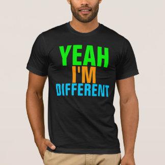 Eu sou Tshirt diferente no preto
