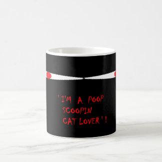 Eu sou um amante do gato do scoopin do tombadilho caneca de café