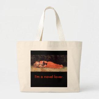 Eu sou um amante novo - saco de livro sacola tote jumbo