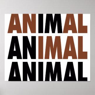 eu sou um animal poster
